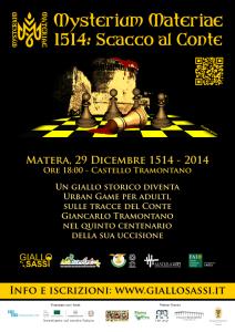 2014.12.29 - Locandina Mysterium Materiae - 1514 - Scacco al Conte