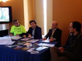 I tre presidenti, da sinistra: Nicola Montemurro, Pierfrancesco Pellecchia e Antonio D'Elicio prima della firma del Protocollo d'Intesa