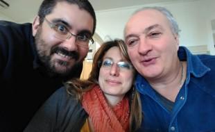 Giuseppe, Stefania e Ulderico in una foto ricordo.