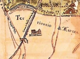 Antica mappa di Parco dei Monaci