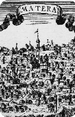 Antica raffigurazione di Matera