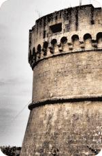 Castello Tramontano - Particolare torre sud