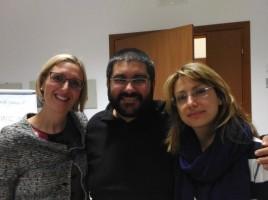 Marianna Martinoni in una foto ricordo con Giuseppe Frega e Stefania Persia, partecipanti per l'A.P.S. Giallo Sassi
