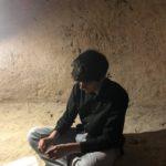 Uno degli studenti del Liceo Duni di Matera, nella stanza della Mente